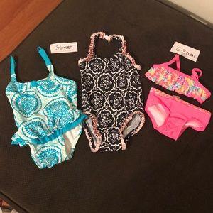 Baby girl swim suit bundle